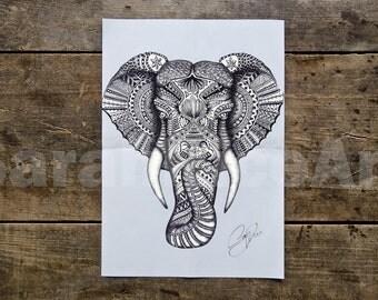 Elephant - Elephant Print - Elephant Art Print - Elephant Art - Elephant Poster - Animal Poster - Animal Art Print Poster - Animal Art