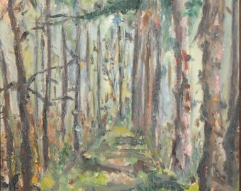 Impressionist Forest Landscape Oil Painting