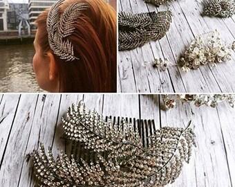 Hair accessories spring - Funkelnder vintage hair comb