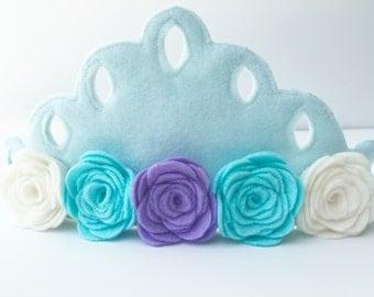 Birthday Party Crown, Light Blue, Party Hat, Princess Jasmine crown