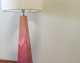 Hand painted lamp with complimentary shade