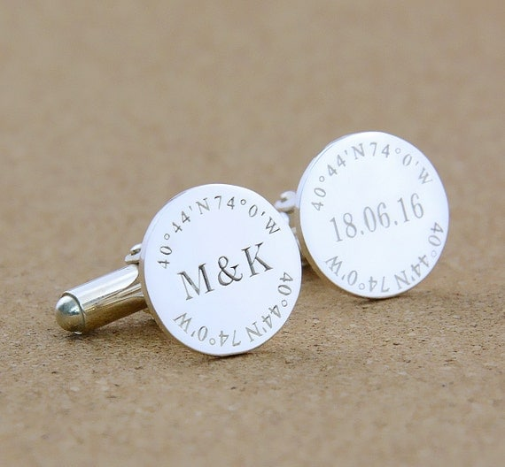 ... Cufflinks,Personalized Monogrammed Cufflinks,Groom Cufflinks,Men Gift