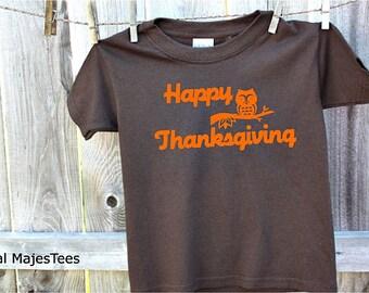 Owl Thanksgiving Shirt