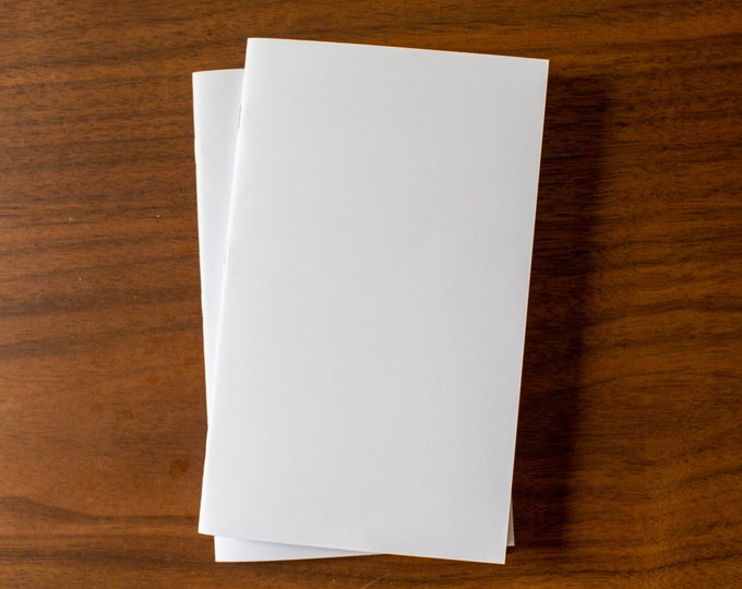 White Notebooks - 5 Pack Journal, Planner, Journal Insert, Planner Insert Mini Diaries, Jotters, Blank Books, Paper Notebook, bulk