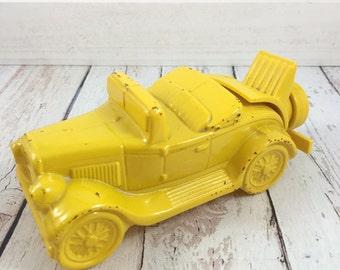 Avon Model A Car,yellow car,gold,Avon bottle,decanter,vintage,vanity,Old,bottles,perfume,keepsake,avon collectible,avon for men,wild country