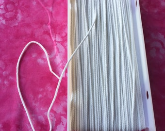 White 100% Polyester Piping Cord 1/8 in / 3.2 mm by Wrights
