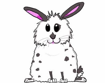 CUSTOM DIGITAL chubby bunny portrait of your rabbit!