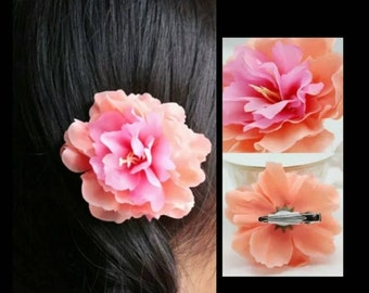 60% OFF Orange/Pink Flower Hair Clip