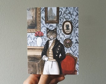 Pride and Prejudice and Cats Valentine's Day Card