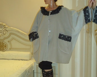 Beige coat/Elegant cape tabard/One size coat cape/Unique coat cape/Design coat cape/Evening coat cape/Gorgeous cape cloak tabard/Boho coat/