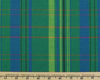 """Colorful Plaid Stretch Fabric By The Yard """"HVNX3P-3430"""""""