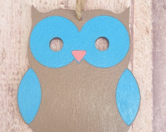 Owl wall hanging - owl decor - decorative owl - owl gifts - wooden owl - woodland decor - woodland wall hanging