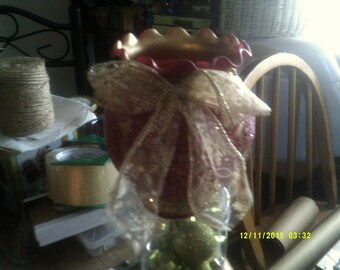 Christmas Vase/ Candleholder