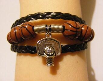 Basketball bracelet, basketball jewelry, sports bracelet, sports jewelry, athletic bracelet, athletic jewelry, fashion bracelet