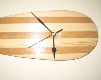 Wooden canoe paddle clock