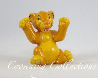 Disney Simba Cub Ceramic Figurine The Lion Kin Porcelain China Glazed Figure Vintage Statue