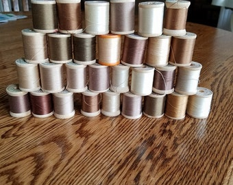30 spools of Belding Corticelli cotton thread