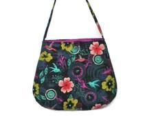 Fabric Purse, Fabric Shoulder Bag, Hummingbird Fabric Bag, Teen Purse, Tween Purse, Gift for Her