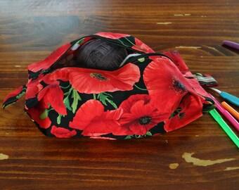 Poppy boxy project bag