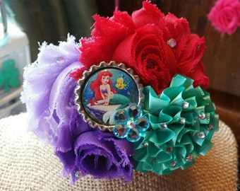 Little Mermaid flower clip