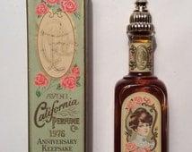 Vintage Avon California Perfume Anniversary Keepsake Cotillion Cologne 1.7 Full With Box