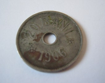 Old Romanian Coin - 20 Bani, 1906, during the Kingdom of Romania, for collection / gift.