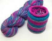 Sonny & Tubbs Self Striping - Hand Dyed Fingering Weight Yarn - Bootheel (400 yards)