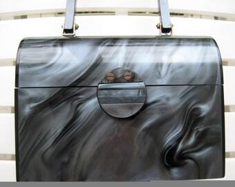 Lunchbox Style VTG Lucite Handbag