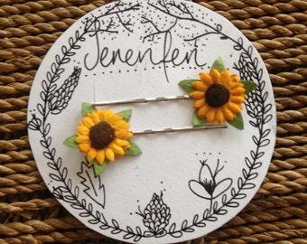 Sunflower bobby pins