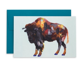 Party Buffalo Card, Birthday Card, Funny Birthday Card, Birthday Gift, Gift, Greeting Cards, Cards, Buffalo, Buffalo Art, Wild Animals