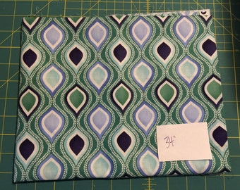 "Kate Spain TERRAIN cotton quilting fabric #27095 green blue white multi 34"" piece"