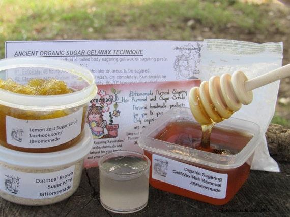 Natural Lemon Zest Scrub Sugaring Wax Deluxe Starter Kit
