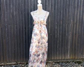 1970's beaded embellished maxi dress