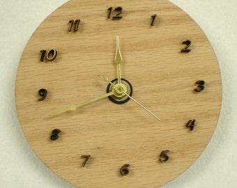 3D Raised Numbers Clock - laser cut