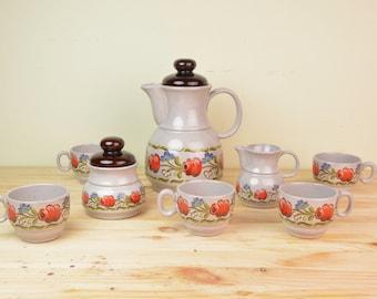 Vintage Folk floral tea set