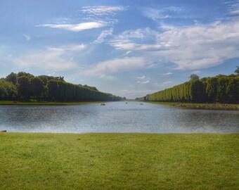 Paris Photography, Versailles, The Grand Canal, French Wall Art, Paris Decor, Versailles Garden