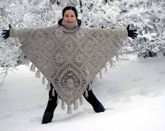 Women's poncho crochet / custom