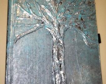 Blue & Silver Tree Journal