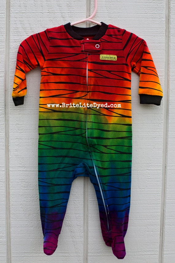 Tie Dye Infant Footed Pajamas 6 MONTHS Baby Clothing Infant
