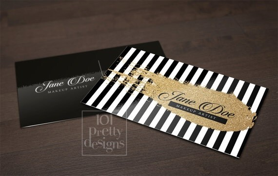 Gold glitter business card template gold printable business card il570xn reheart Gallery
