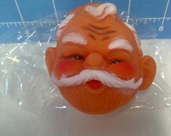 """Vinyl Santa Face for Doll Making - 3"""""""