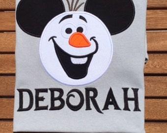 Mickey Head Olaf Shirt  Disney World Olaf Frozen Elsa Anna Shirt Frozen Disney Shirt Disney Family Shirt