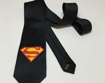 Superman Black Necktie