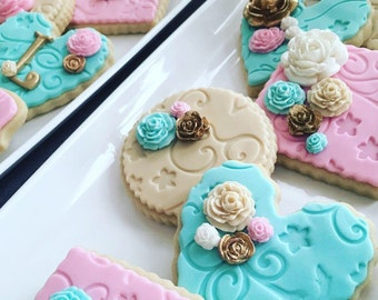 Personalized Floral Sugar Cookies (Mother's Day or any ocassion)