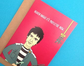 Johnny Marr The Smiths Inspired Christmas Card from Full Colour Original Illustration Funny Moz Xmas Manchester Musician Music Iconic Indie