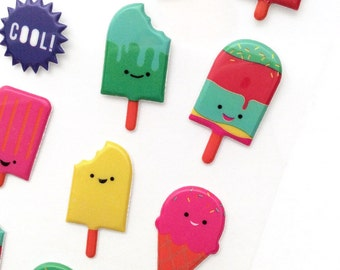 Planner Summer Sweets Stickers Ice Cream & Icy Pole