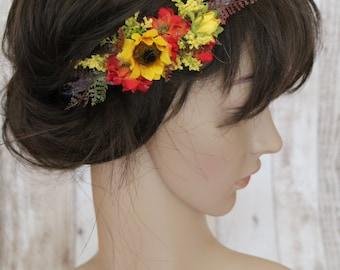 Floral Elastic Headpieces - Sunflower