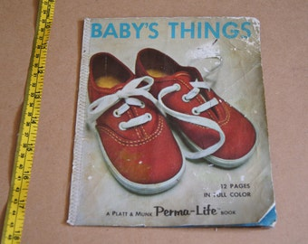 Vintage 1970's -- Baby's Things - 1974 - a permalife book