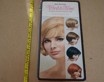 Vintage 1960's - Max Factor Shade Preview Chart - Hair Dye Salon Chart