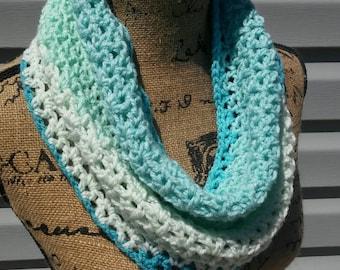Crochet Cowl,  Summer Cowl,  Lightweight Cowl,  Crochet Summer Scarf, Spring Cowl, Infinity Scarf, Summer Cowl